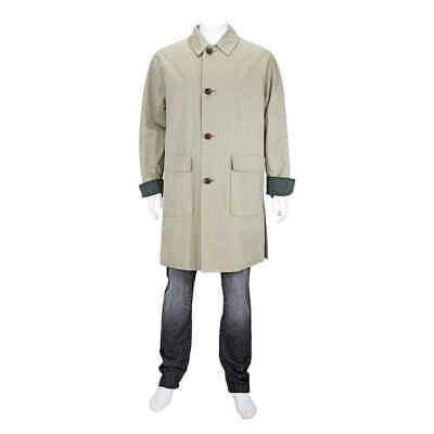 Burberry Men's Runway Khaki Light Reissued Waxed Gabardine C