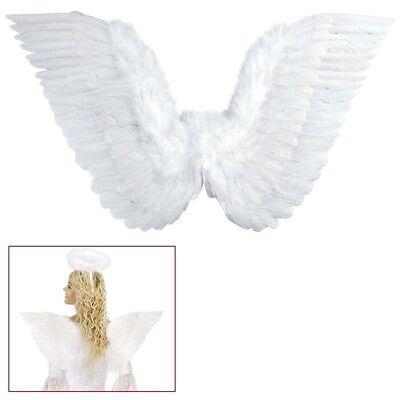WEIßE FEDER ENGELSFLÜGEL # Weihnachten Christkind Engel Flügel Kostüm Party - Weiße Engel Flügel Kostüm