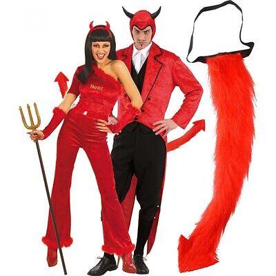 TEUFELSCHWANZ # Halloween Satan Teufel Schwanz Plüschschwanz Kostüm - Teufel Kostüm Zubehör