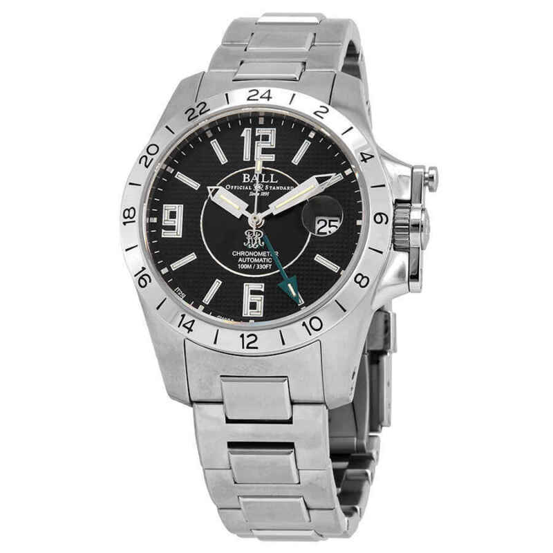 Ball Engineer Hydrocarbon Magnate GMT Automatic Black Dial Men Watch