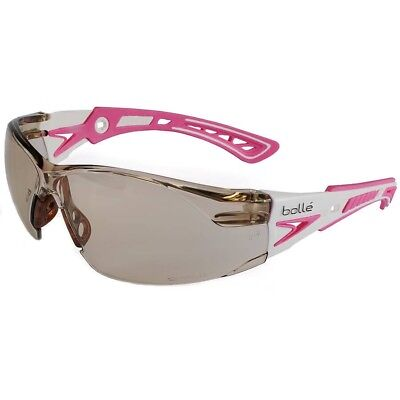 Bolle Rush Plus Small Safety Glasses Whitepink Temples Csp Anti-fog Lens