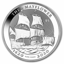 2020 BVI 5 oz Silver Mayflower 400th Anniversary BU - SKU#208492