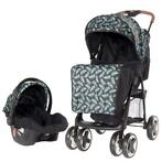Lorelli Ines Black Leaves 2-in-1 Wandelwagen incl. Autost...