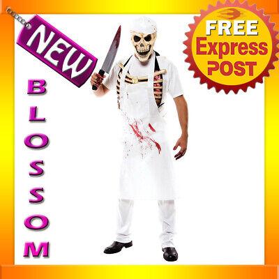 C361 Meat Man Butcher Evil Halloween Adult Fancy Dress Up Party Costume - Evil Butcher Halloween Costume