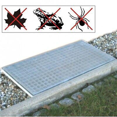 Lichtschacht Abdeckung Netz 120x60cm Aluminium Gitter Lichtschachtnetz Schutz