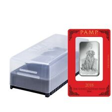 Box of 25 - 1 oz PAMP Suisse Year of the Dog Silver Bar (In Assay)