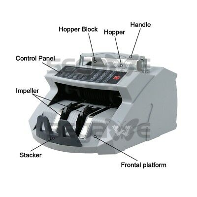 Professional Money Bill Counter Uv Mg Ir Counterfeit Bill Detector Ce Listed