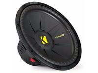 "Kicker 40CWS154 Comp S Series 15"" Single 4-Ohm Sub Car Subwoofer Bass Speaker"