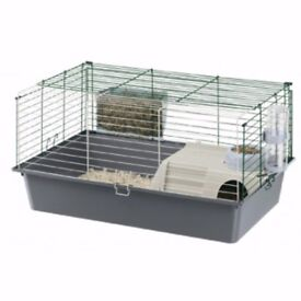 Guinea pig full set up -cage, shredded card bedding bale, unopened food and hay with accessories