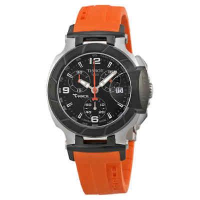 Tissot T Race Chronograph Orange Silicone Ladies Watch T0482172705700