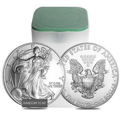 Roll of 20 - 1 oz Silver American Eagle BU (Random Year) 20 Silver Eagles