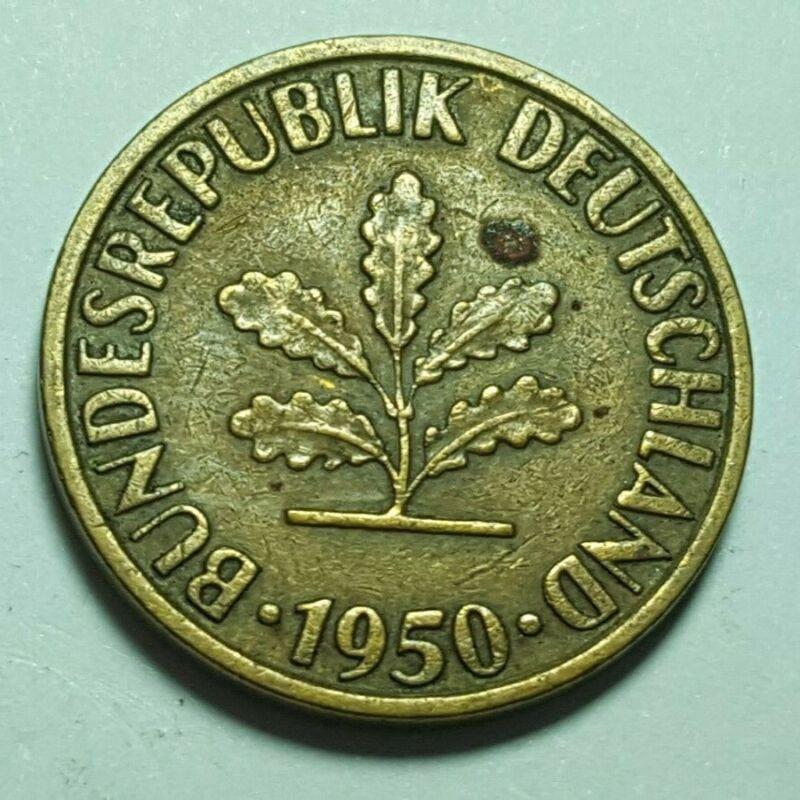 Germany 10 Pfennig 1950 Bundesrepublik Deutschland Coin J