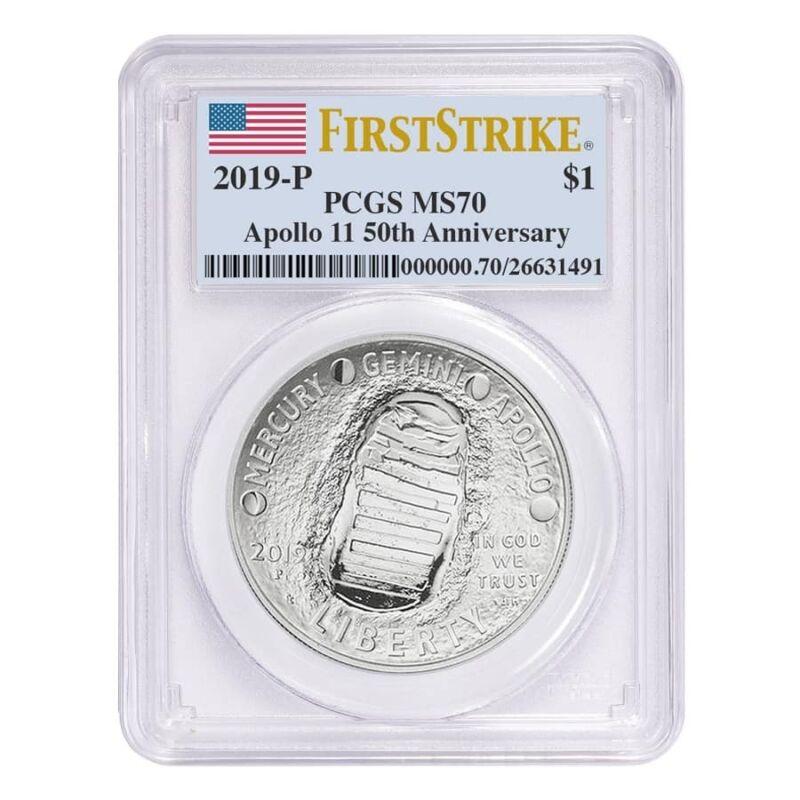 Sale Price - 2019 P Apollo 11 50th Anniversary Silver Dollar Comm. PCGS MS 70 FS