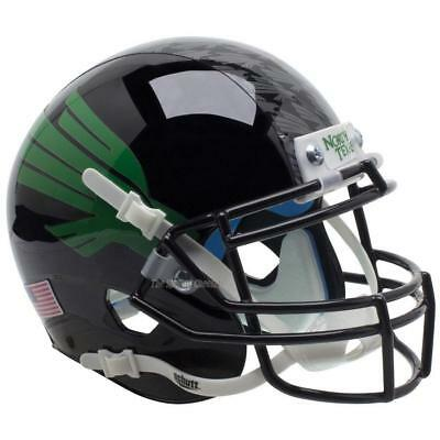 North Texas Football - NORTH TEXAS MEAN GREEN BLACK EAGLE SCHUTT XP FULL SIZE REPLICA FOOTBALL HELMET