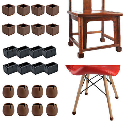 Chair Feet Covers (16Pc Silicone Furniture Chair Leg Cap Feet Table Cover Anti-slip Floor)