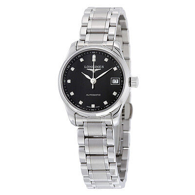 Longines Master Collection Black Dial Stainless Steel Automatic Ladies Watch