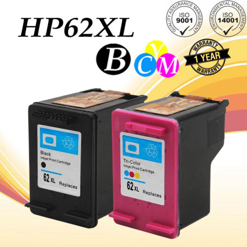 3PK for HP 62XL Black Tri-color Ink Cartridge for Officejet 5740 5742 5745 8040