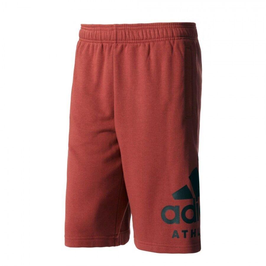adidas PANTALONCINO BP8475 ROSSO UOMO Men's SID Athletics Logo Shorts - Red