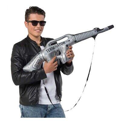 AUFBLASBARES GEWEHR Maschinengewehr Soldaten Armee Gangster Kostüm Party - Gangster Kostüm Requisiten