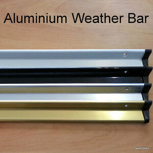 Aluminium door weather drip bar