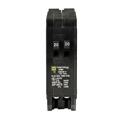 Square D Homeline 20-amp 1-pole Tandem Circuit Breaker Main Schneider Electric