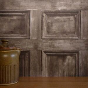 Rushmore-Brown-wooden-door-Wallpaper-Wood-Plank-Effect-Wood-Panel