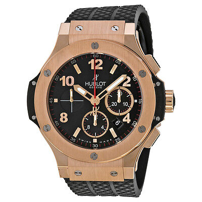 Hublot Big Bang Black Dial Black Rubber Mens Watch 301PX130RX
