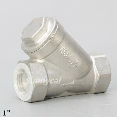 1 Y Strainer Pump Filter Npt Stainless Steel 316 1000psi Mesh Water Oil