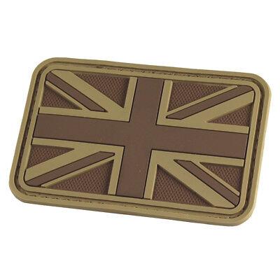 HAZARD 4 UNION JACK UK FLAG MORALE PATCH BRITISH PATTERN RUBBER 3D COYOTE