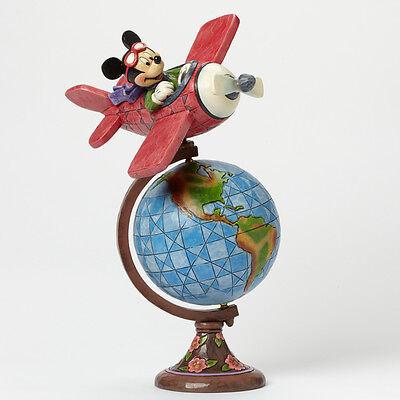 Disney*MICKEY MOUSE - GLOBETROTTING AVIATOR*New*NIB*Jim Shore*AIRPLANE*4043624