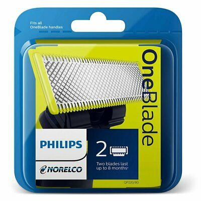 Philips Norelco Replacement Blades QP220/80 Pack of 2 Counts OneBlade Series NEW