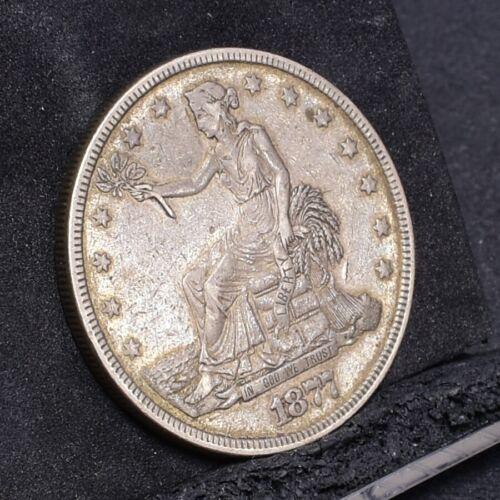 1877 Trade Dollar - XF Details (#29749)
