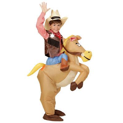 AUFBLASBARES COWBOY AUF PFERD KINDER KOSTÜM Indianer Wilder - Kinder Kostüme Pferd