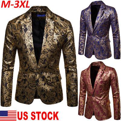 US Men Gorgeous Clubs Wedding Party Tuxedo Dinner Formal Suit Blazer Jacket Coat - Tux Coat