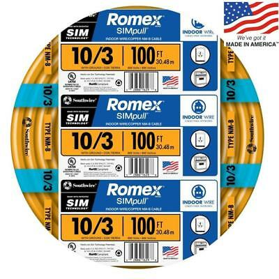 Southwire Romex Simpull 100 103 Non Metallic Wire By The Roll 63948426