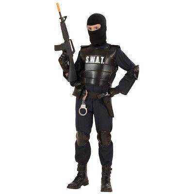 SWAT KOSTÜM KINDER Karneval Fasching Polizei Agent Polizist Maske Jungen # - Swat Kostüm Kind