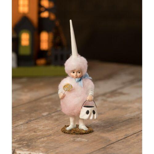 Bethany Lowe Cotton Candy Lulu Ghost Trick Treat Girl Candy Halloween Figurine