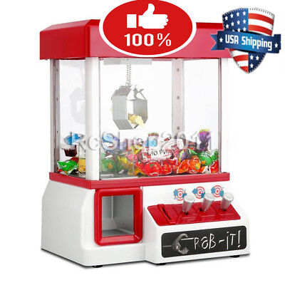 Carnival Style Vending Arcade Claw Candy Grabber Prize Machine Game Kids toy