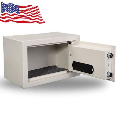 Safety Box Digital Security Storage For Home Office Cash Jewelry Gun White sale