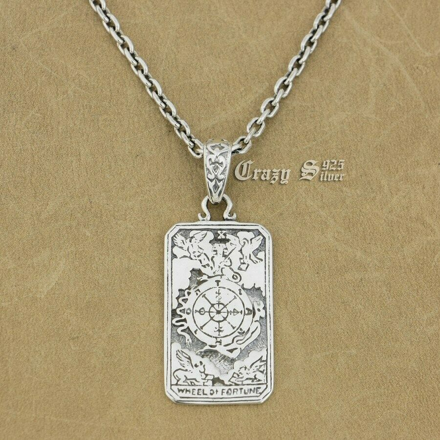 """Sterling Silver Dog Tag Skull and Sword Pendant .925 1 1//2/"""" Tall"""