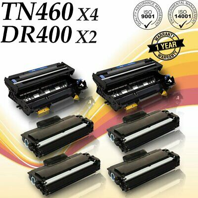 Fax 8350p Fax - 4 PK TN460 2 PK DR400 for brother DCP-1200 DCP-1400 FAX8350p FAX8750p MFC-P2500