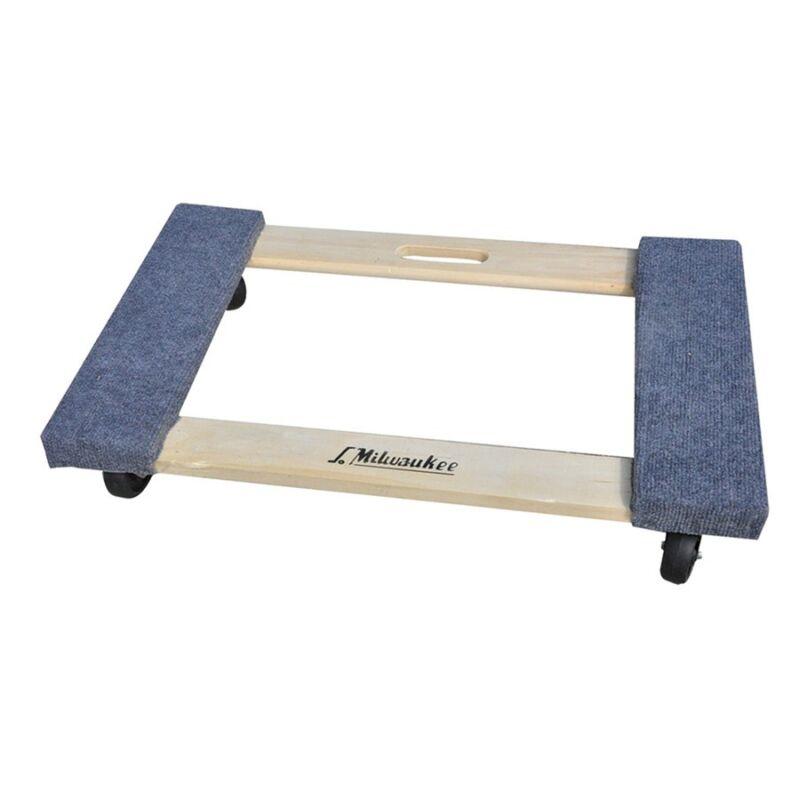 Milwaukee 1,000-lb Capacity 4-Wheels Heavy Duty Furniture Moving Wood Dolly, NEW