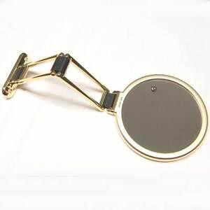 Specchio dorato oro parete con triplo ingrandimento - Specchio ingrandimento ...