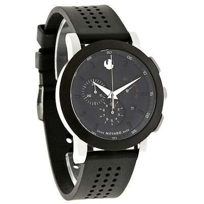 $517.00 - Movado Museum Mens Black Dial Chronograph Swiss Quartz Watch 0606545