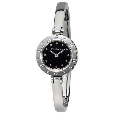 Bvlgari B.zero1 Black Dial Stainless Steel Bangle Bracelet Ladies Watch 102319