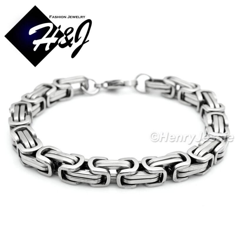 "24/""MEN Stainless Steel 9mm Gold Silver Link Chain Necklace Bracelet Pendant*MJ28"