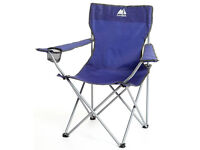 10 (TEN) Eurohike Blue Folding Chair Drink Holder Camping Fishing Carry Bag EX-Display