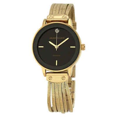 Anne Klein Black Glossy Dial Ladies Watch 3220BKGB ()