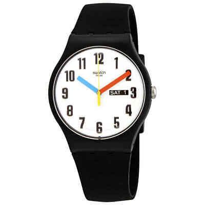 Swatch Elementary Quartz White Dial Unisex Watch SUOB728
