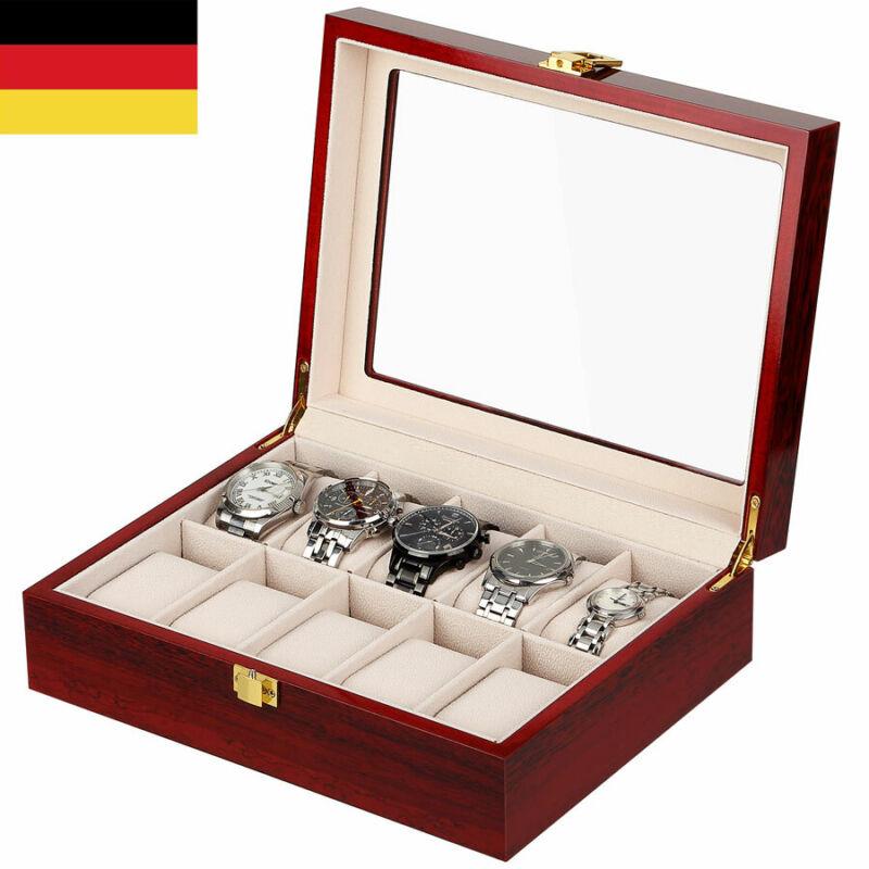 Für 10 Uhren Uhr Uhrenbox Uhrenkoffer Uhrentruhe Uhrenkasten Uhrenschatulle Holz